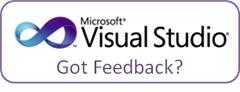 Visual Studio feedback