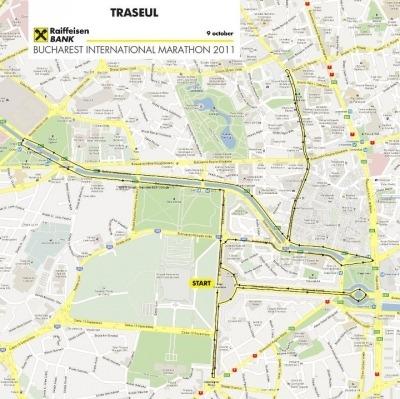 Harta initiala Bucharest International Marathon 2011