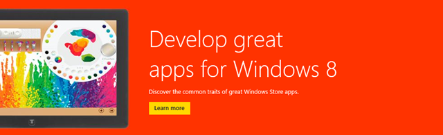 Develop great apps for Windows 8