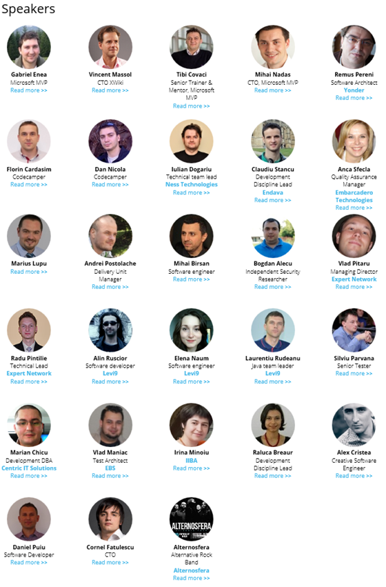 CodeCamp/Iasi speakers