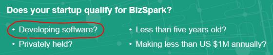 criterii BizSpark