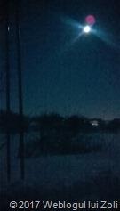 schi fond pe lună plină în comuna Berceni