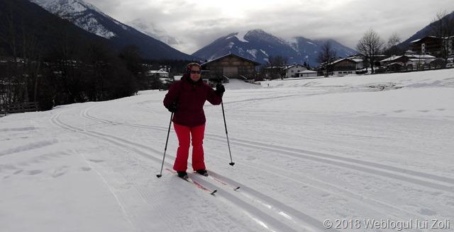 Dorina la schi fond in Stubaital